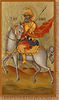 Saint Menas (Minas) on Horse