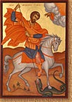 Saint Theodore Tyron on Horse